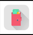 flat wallet icon vector image
