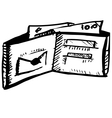 Leather wallet with the money vector image