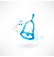 Blue bell rings grunge icon vector image