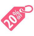 20 percent off tag vector image
