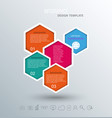 abstract hexagon business infographics elements vector image