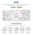 banner sport vector image