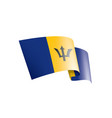 barbados flag on a white vector image vector image