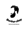 barber shop logo the barber handsome man with vector image