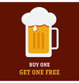 Beer Buy One vector image