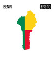 benin map border with flag eps10 vector image vector image