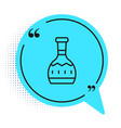black line tequila bottle icon isolated on white vector image vector image