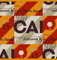cairo airport tag seamless pattern vector image vector image