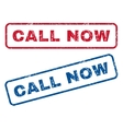 Call Now Rubber Stamps vector image vector image