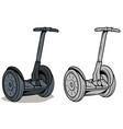 cartoon graphic self-balancing electric scooter vector image vector image