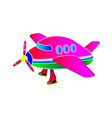 childrens application the pink plane vector image