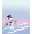 christmas snowmen vector image vector image