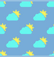 cloud and sun seamless pattern vector image
