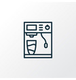 coffee machine icon line symbol premium quality vector image
