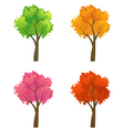 Colorful trees collection vector image vector image