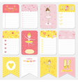 Cute Balerina Tag and Labels Set - for baby vector image vector image