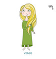 cute girl in the form of zodiac sign virgo vector image