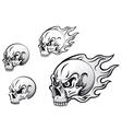 Danger evil skulls