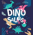 dinosaurs - flat design style with vector image vector image