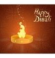 Diwali Indian festival greeting card vector image vector image