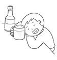 drunker vector image