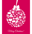 Fashion Christmas Ball vector image vector image