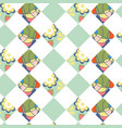 floral geometric background image cute design vector image