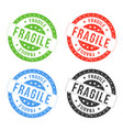 fragile seals vector image