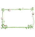 frame with clover and ladybird vector image vector image