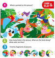 game for small children search fragments cartoon vector image