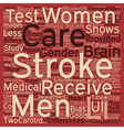 Gender Bias in Stroke Care text background vector image vector image