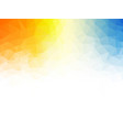 geometric orange blue texture background vector image vector image