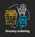 grocery ordering chalk concept icon online vector image vector image