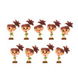 hawaiian girl dancing hula in traditional costume vector image vector image