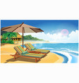 holiday on an exotic island retro poster vector image vector image