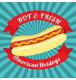 Hotdog Bun vector image vector image