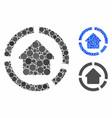 house diagram composition icon circle dots vector image vector image