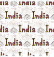 india seamless pattern with taj mahal and culture vector image vector image