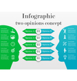 Infographic two opinions concept vector image vector image