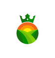 king farm logo icon design vector image vector image