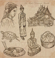 Laos Pictures of Life pack vector image vector image
