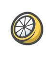 lemon slice fresh sour icon cartoon vector image
