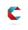 Letter C ribbon logo icon design template elements vector image vector image