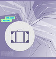 luggage icon on purple abstract modern background vector image vector image