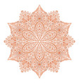 mandala red indian floral ornament vector image vector image