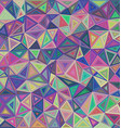 Multicolored triangle mosaic tile background