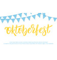 oktoberfest banner design for german beer vector image vector image