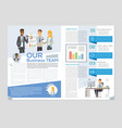 our business team - colorful brochure vector image