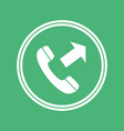 outgoing call icon mobile application user vector image