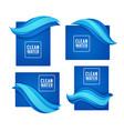 paper cut spring aqua flow design template for vector image vector image